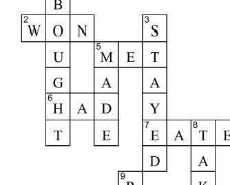 ESL crosswords